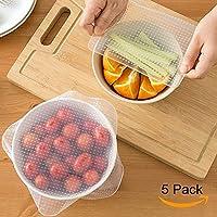 グランドライン5パックの再利用可能なEco Silicone Food Wraps