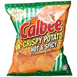 Calbee Crispy Potato Chips, Hot & Spicy, 80g