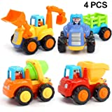 Bekker Inertia Toy Early Educational Toddler Baby Toy Friction Powered Cars Push and Go Cars Tractor Bulldozer Dumper Cement