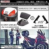 トリシティ純正カラー ワイズギア製 リアボックス E37 ブルーイッシュ ホワイトカクテル1 + TRICITY専用ステーセット