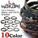 Wakami ワカミ ブレスレット The 4 Elements - Water and Earth Bracelet アンクレット メンズ レディース ペア ビーズ パーツ アクセサリー ロンハーマン Ron Herman 取扱ブランド