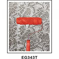 SONONIA  2個入り お買い得 壁 装飾用 プラスチック製 ハンドル付き 7インチ エンボス 加工 花&鳥パターン 塗装ローラー