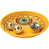Small Rakhi Plate (Yellow)