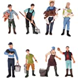 Hellery 13個 人モデル 人フィギュア 農家フィギュア 人模型 農家風景 ジオラマ レイアウト 全2選択 - 8個