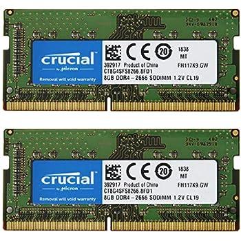 【2枚セット】 Crucial ノートPC用 メモリ PC4-21300(DDR4-2666) 8GB SODIMM CT8G4SFS8266 [並行輸入品]