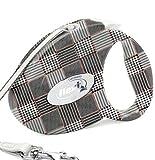 フレキシリード ファッション S グレンチェック 伸縮リード フレキシ Flexi