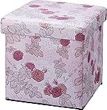 あまの 収納ボックス バラ柄 スツールボックス ラヴィアンローズ FSM-1071
