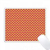 ピンクのハートパターンにキュートなイエロー PC Mouse Pad パソコン マウスパッド