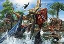 150ピースジグソーパズル ティラノサウルスVSモササウルス ラージピース(26×38cm)