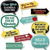 Funny New York フォトブース小道具キット 10ピース