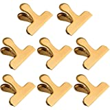 Chip Bag Clips,8 Pack Large Golden Stainless Steel Air Tight Bag Clip Perfect for Kitchen &Office (8 pack)