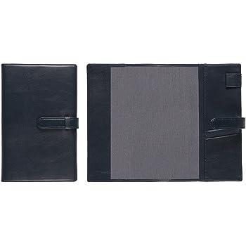 【本革】 ジブン手帳専用 A5変型手帳カバー (ミーリングレザー) ベルト付き (ブラックネイビー) Business Leather Factory