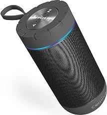 Bluetooth スピーカー 【Comiso X26 】 おしゃれブルートゥース スピーカー bluetooth 4.2 ワイヤレス高音質ステレオアンプ 12W大音量低音強化 最強のIPX5防水保護 アウトドア、車内使用(ダークグレー)