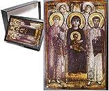 フォトジグソーパズルofアイコンのメアリーとSaints Theodoros and Georgios with angels