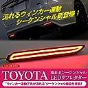 流れるウインカー ファイバー LED リフレクター シーケンシャル トヨタ ダイハツ リフレクター アルファード ヴェルファイア 30 マークX ハリアー60系 ムーヴカスタム レクサスIS F
