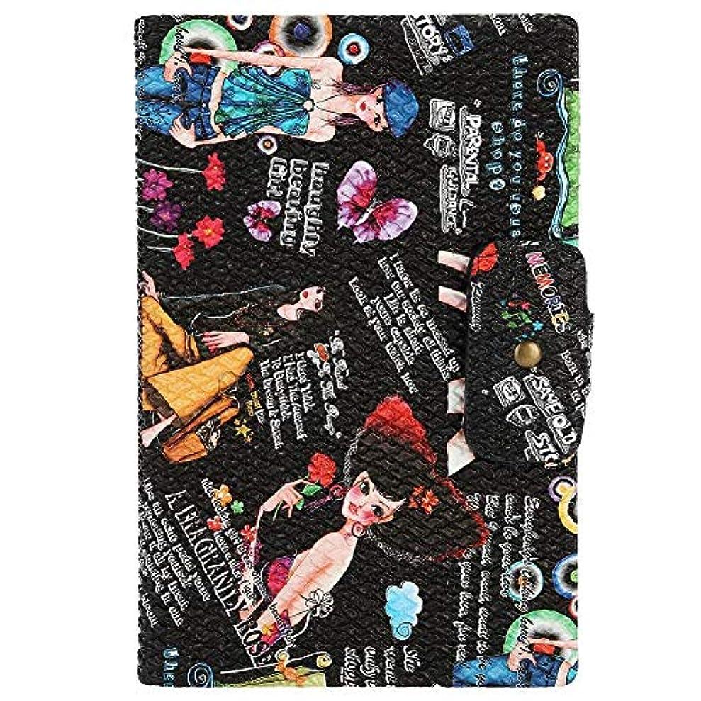 調整するイヤホン奇跡ネイルアートディスプレイスタンド 160色表示 プラスチック板 ネイルポリッシュカラー ディスプレイ サロン アクセサリー(02)