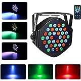 ステージ照明パーライトDJ KTVディスコパーティーバー用リモート付きパーライト36x1W LED RGB 7チャンネル(1 PC)