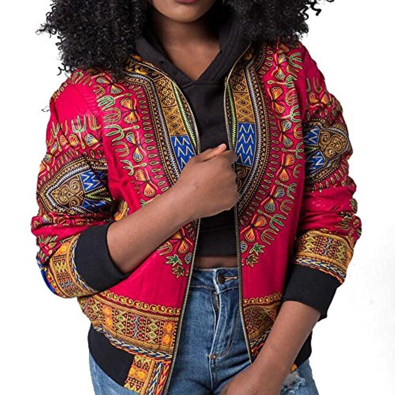 SakuraBest 女性のアフリカプリントショートジャケット