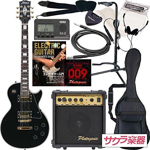 Maison メイソン エレキギター レスポールタイプ サクラ楽器オリジナル LP-38/BK 初心者入門13点セット