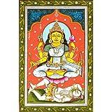 Goddess Shodashi - Who is Lovely in the Three Worlds (Ten Mahavidya Series) - Watercolor on Patti -