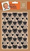 "CRAFTER'S COMPANION LP-EF5-Heart Leonie Pujol Embossing Folder 5""X7""-Dotty Heart"