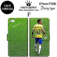 BRAVE CROWN t055 iPhone XS Max XR X 8 7 6s 6 plus プラス SE 5s 5 手帳型 スマホ ケース Xperia Galaxy 全機種対応 ダイアリー ブランド グッズ サッカー フットボールネイマール NEYMAR ブラジル バルセロナ パリサンジェルマン