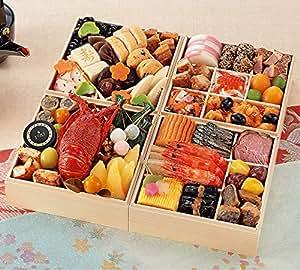 早期割引中(12月30日着) 京菜味のむら 和洋おせち「平安絵巻」四段重 43品