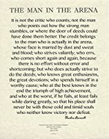 11x 14Words of Wisdom by Theodore Roosevelt–The Man in the arena- Archival Parchment印刷
