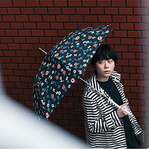 w.p.c(WPC) 【長傘】【軽くて丈夫で持ちやすい】シェニールフラワー (雨傘/レディース)【ブラック/58】