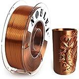 Noulei Shiny PLA 3D Printing Filament for 3D Printer, 1kg/2.2lbs Spool 1.75mm, Silk Copper