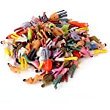 Sevender Gearbox 100PCS Painted Figures Tiny People Model Painted Figures People Figure Layout Plastic (1:100)