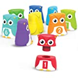 Learning Resources LER6711 Snap n Learn Rainbow Owls Set (10 Piece)