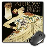 3dRose Vintage Arrow Dress Collars and Shirts advertising Poster - Mouse Pad 8 by 8 (mp_130011_1) [並行輸入品]