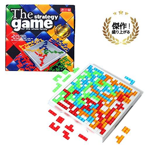 ECONUS テトリス ボードゲームセット テリトリー戦略ゲーム 簡単ルールで遊びやすい 脳を鍛える ブロックス (対象年齢7歳~)