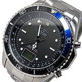 エルジン ELGIN ソーラー 電波 メンズ 腕時計 FK1400S-BLP ブラック/ブルー 腕時計 国内正規 [並行輸入品]