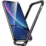 Miimall iPhone XR ケース iPhone XR バンパー, アルミ シリコン アイフォンXR 用 耐衝撃保護 カバー ケース (6.1 インチ iPhoneXR 用, ブラック)