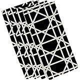 E byデザインn4gn367bk4 – 19 Trellis幾何印刷ナプキン、19