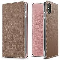 BONAVENTURA ボナベンチュラ iPhone X ケース German Leather Diary Case [iPhone X   エトープ×サクラ]