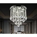 Crystal Ceiling Light LED 3 Brightness Crystal Chandelier Chandelier Ceiling Light Suitable for Staircase Corridor Living Roo