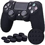 TERSELY Skin Grip Anti-Slip Silicone Cover Case for Sony PS4/PS4 Slim/PS4 Pro DualShock4 Controller Play Station 4+ Extra 8 T