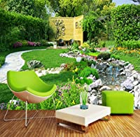 Ywwz&N カスタム壁壁画写真壁紙ガーデン自然風景大壁絵画リビングルームの寝室の背景PapelデParede 3D-250X175Cm