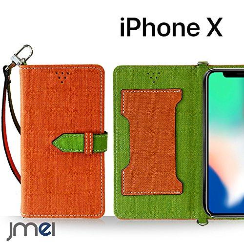 iPhone X ケース手帳型 アイフォンx カバー ブランド 手帳 閉じたまま通話ケース VESTA オレンジ iphone x edition simフリー スマホ カバー 携帯ケース 手帳型 スマホケース 全機種対応 ショルダー スマートフォン