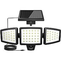 Lepro センサーライト 屋外 ソーラーライト 最新分離型 3灯式 LED 人感センサーライト 屋内・屋外使用可【4…