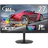 Acer ゲーミングモニター XV272UPbmiiprzx 27インチ IPS 非光沢 2560x1440 WQHD 400cd 1ms(VRB) 144Hz