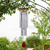 27 Tubes Handmade Wind Chimes for Outside, Tuned Hummingbird Wind Chimes, Soothing Melodic Tones, Outdoor Decor, Rustproof Al