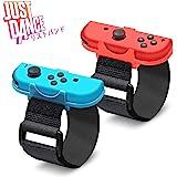 Just Dance 2021 /Zumba de 対応 リストバンド コントローラー グリップ【令和最新改良モデル 2 in 1】Nintendo Switch joy-con 用 ハンドストラップ ジャストダンス 2021 2020 2019 2