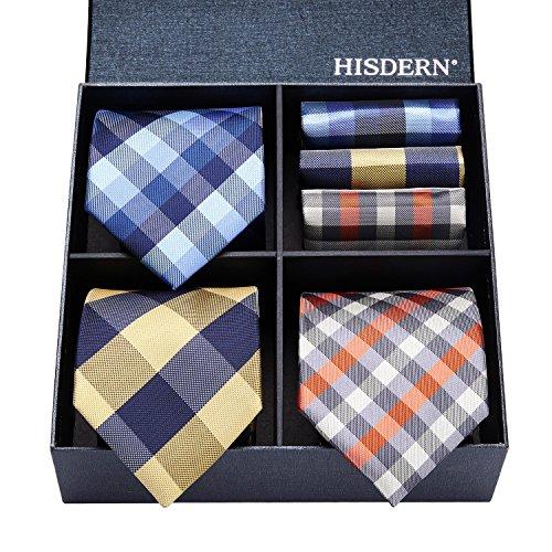 (ヒスデン) HISDERN メンズ 洗える ネクタイ ハンカチ 3本 セット 収納BOX 付き ビジネス結婚式 就活 プレゼント 様々なセットを選べる TB3007