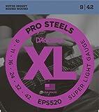 D'Addario ダダリオ エレキギター弦 プロスティール Super Light .009-.042 EPS520 【国内正規品】