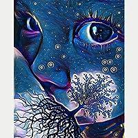 Huihuart 5D DIYダイヤモンド塗装フルダイヤモンドダイヤモンド刺繍手象嵌風景木空少年パターンクロスステッチステッカー絵画リビングルームの寝室の装飾工芸品装飾絵画ギフト40 x 50 cm,フレームレス