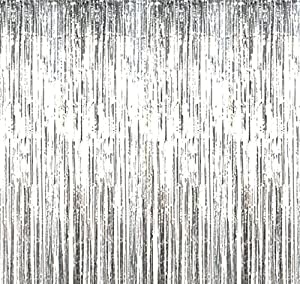 Happy Spring パーティー用 横断幕 カーテン 写真 舞台 背景 1m×3m (銀)
